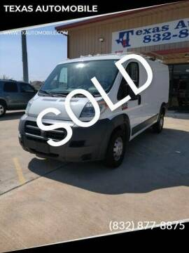 2015 RAM ProMaster Cargo for sale at TEXAS AUTOMOBILE in Houston TX