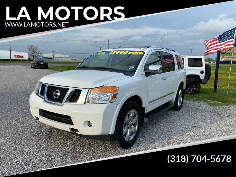 2011 Nissan Armada for sale at LA MOTORS in Alexandria LA