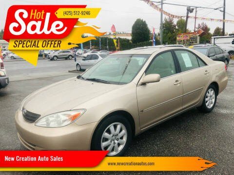2002 Toyota Camry for sale at New Creation Auto Sales in Everett WA
