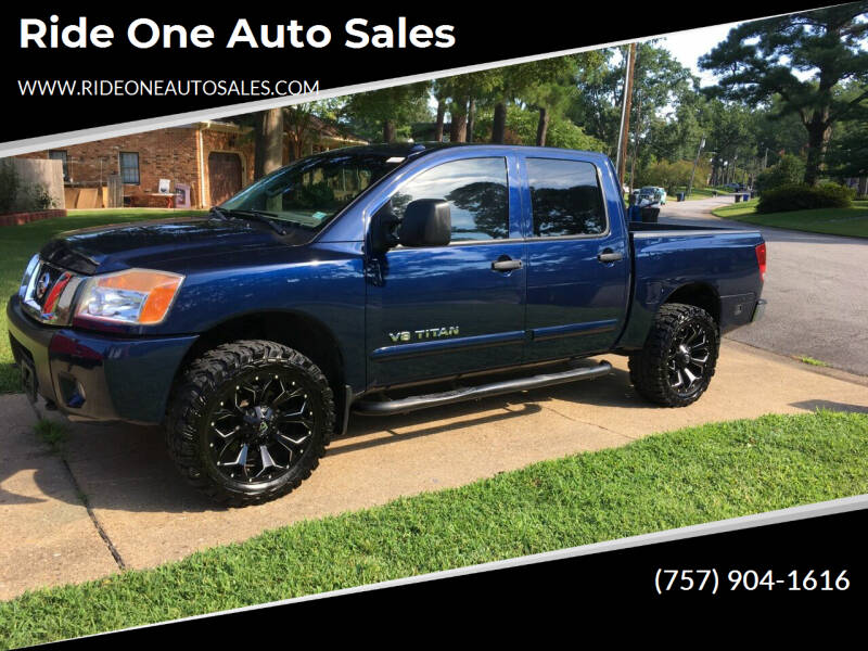 2012 Nissan Titan for sale at Ride One Auto Sales in Norfolk VA