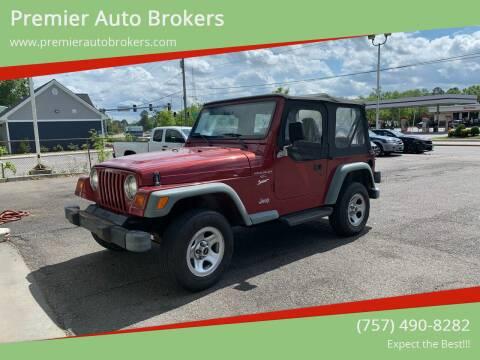 1998 Jeep Wrangler for sale at Premier Auto Brokers in Virginia Beach VA