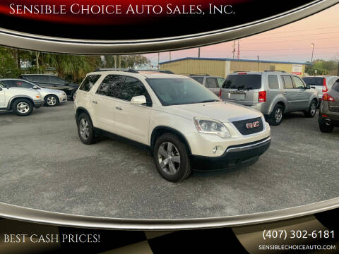 2011 GMC Acadia for sale at Sensible Choice Auto Sales, Inc. in Longwood FL