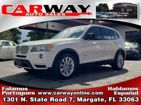 2014 BMW X3 for sale at CARWAY Auto Sales in Margate FL