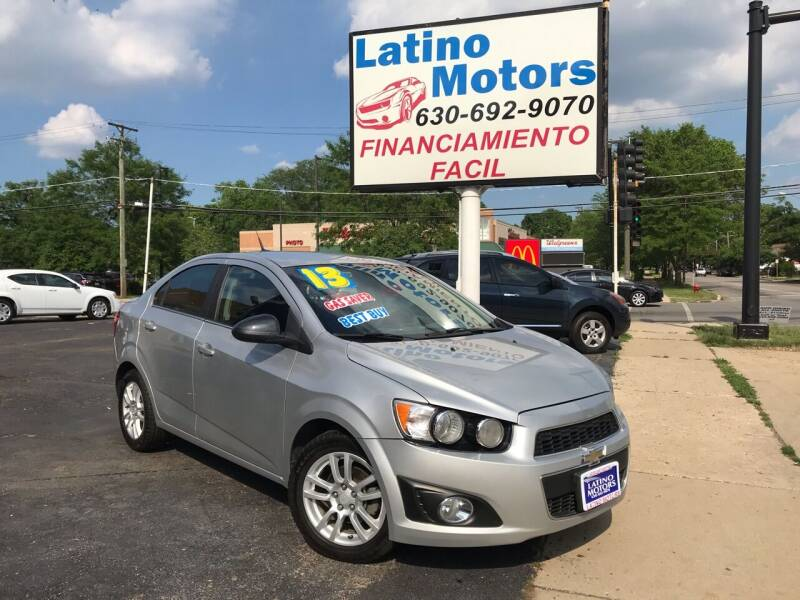 2013 Chevrolet Sonic for sale at Latino Motors in Aurora IL