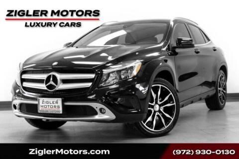 2015 Mercedes-Benz GLA for sale at Zigler Motors in Addison TX