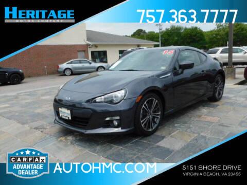 2015 Subaru BRZ for sale at Heritage Motor Company in Virginia Beach VA