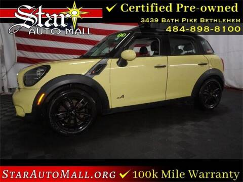 2012 MINI Cooper Countryman for sale at STAR AUTO MALL 512 in Bethlehem PA