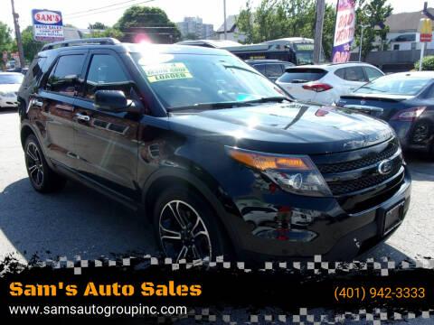 2013 Ford Explorer for sale at Sam's Auto Sales in Cranston RI