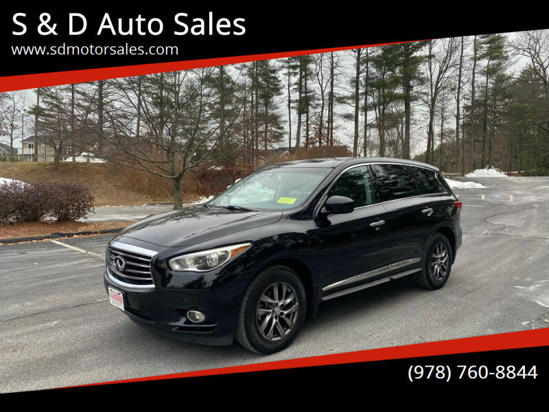 2013 Infiniti JX35 for sale at S & D Auto Sales in Maynard MA