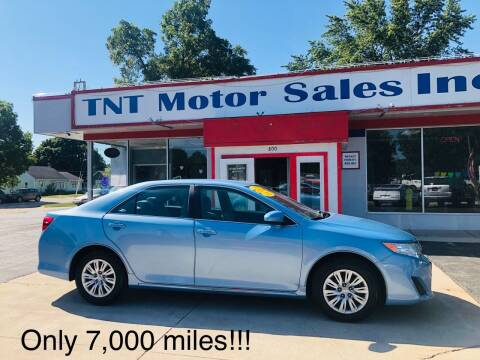 2012 Toyota Camry for sale at TNT Motor Sales in Oregon IL