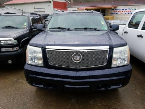 2004 Cadillac Escalade for sale at Sissonville Used Cars in Charleston WV