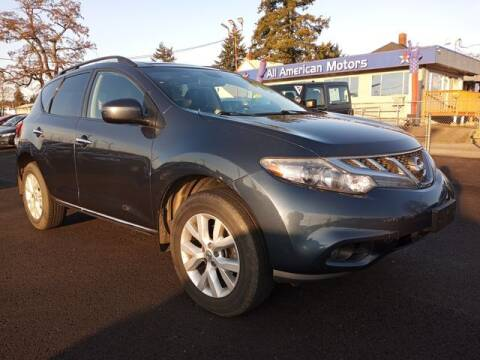 2012 Nissan Murano for sale at All American Motors in Tacoma WA