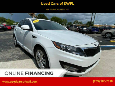 2013 Kia Optima for sale at Used Cars of SWFL in Fort Myers FL