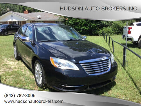 2013 Chrysler 200 for sale at HUDSON AUTO BROKERS INC in Walterboro SC