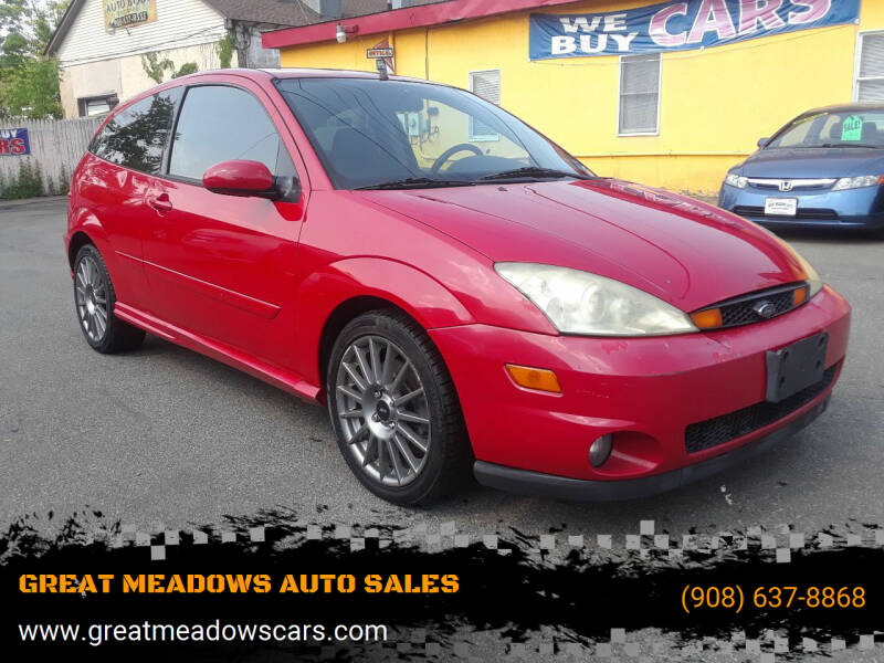 2004 Ford Focus SVT for sale at GREAT MEADOWS AUTO SALES in Great Meadows NJ