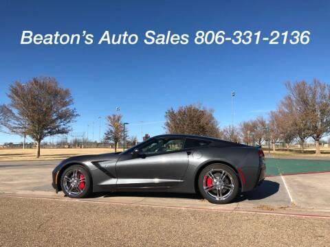 2017 Chevrolet Corvette for sale at Beaton's Auto Sales in Amarillo TX