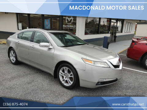 2010 Acura TL for sale at MacDonald Motor Sales in High Point NC