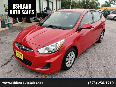 2016 Hyundai Accent for sale at ASHLAND AUTO SALES in Columbia MO