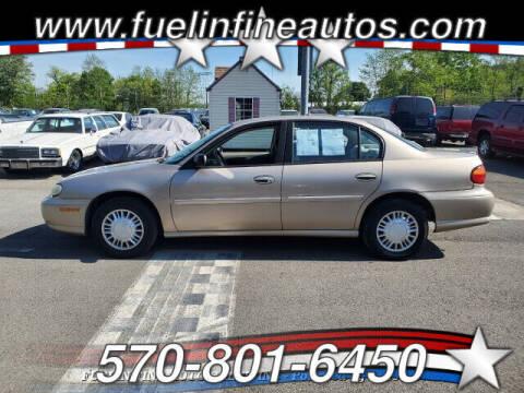 2000 Chevrolet Malibu for sale at FUELIN FINE AUTO SALES INC in Saylorsburg PA