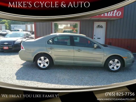 2008 Ford Fusion for sale at MIKE'S CYCLE & AUTO in Connersville IN