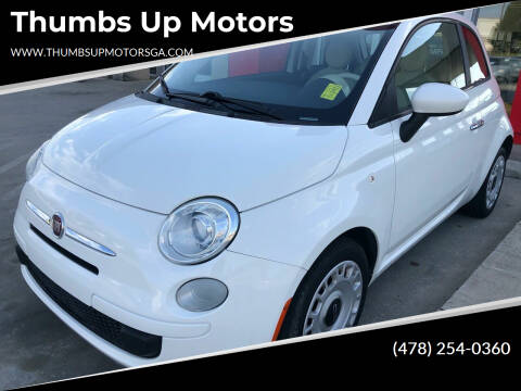 2013 FIAT 500 for sale at Thumbs Up Motors in Warner Robins GA