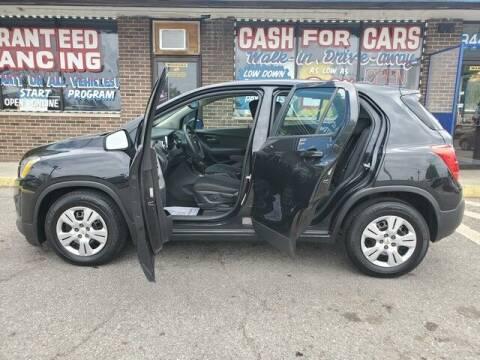 2015 Chevrolet Trax for sale at R Tony Auto Sales in Clinton Township MI