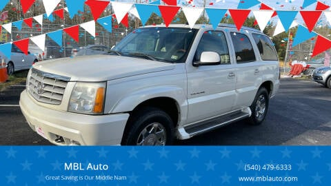2006 Cadillac Escalade for sale at MBL Auto Woodford in Woodford VA