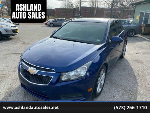 2012 Chevrolet Cruze for sale at ASHLAND AUTO SALES in Columbia MO