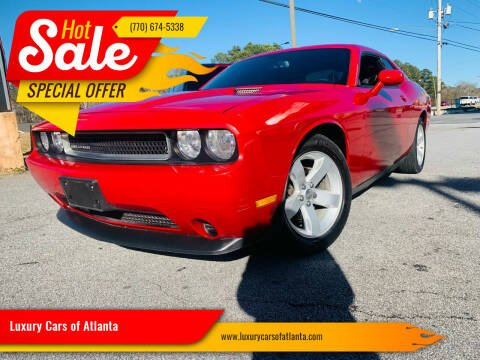 2012 Dodge Challenger for sale at Luxury Cars of Atlanta in Snellville GA