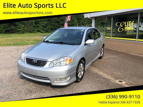 2007 Toyota Corolla for sale at Elite Auto Sports LLC in Wilkesboro NC