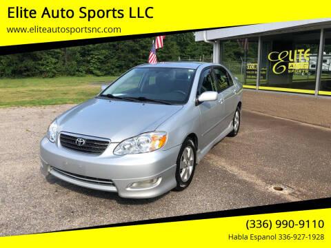 2007 Toyota Corolla for sale at Elite Auto Sports LLC in Wilkesboro NC