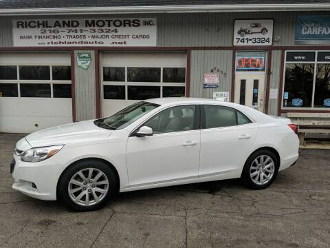 2015 Chevrolet Malibu for sale at Richland Motors in Cleveland OH