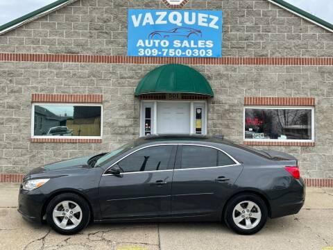 2015 Chevrolet Malibu for sale at VAZQUEZ AUTO SALES in Bloomington IL
