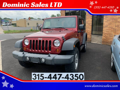 2012 Jeep Wrangler for sale at Dominic Sales LTD in Syracuse NY