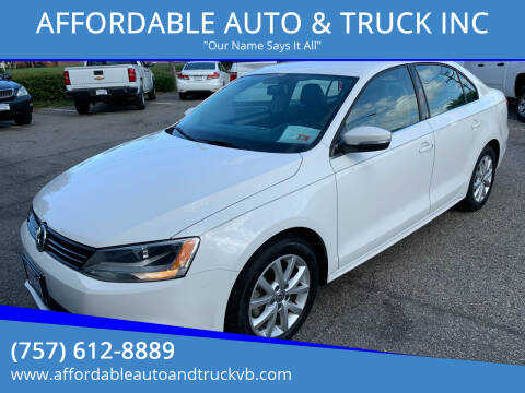 2013 Volkswagen Jetta for sale at AFFORDABLE AUTO & TRUCK INC in Virginia Beach VA