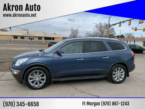 2012 Buick Enclave for sale at Akron Auto - Fort Morgan in Fort Morgan CO