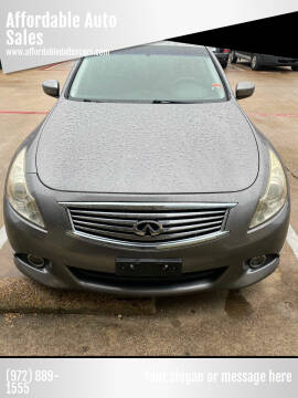 2010 Infiniti G37 Sedan for sale at Affordable Auto Sales in Dallas TX