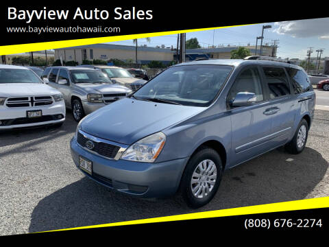 2012 Kia Sedona for sale at Bayview Auto Sales in Waipahu HI