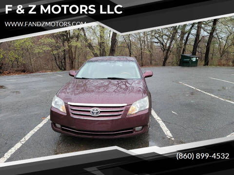2005 Toyota Avalon for sale at F & Z MOTORS LLC in Waterbury CT