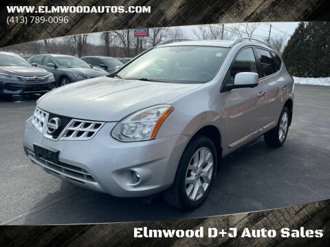 2013 Nissan Rogue for sale at Elmwood D+J Auto Sales in Agawam MA
