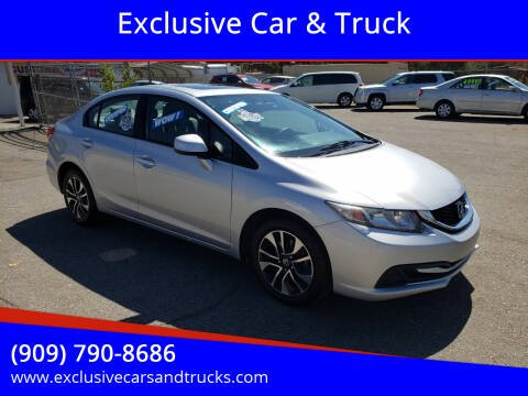 2013 Honda Civic for sale at Exclusive Car & Truck in Yucaipa CA