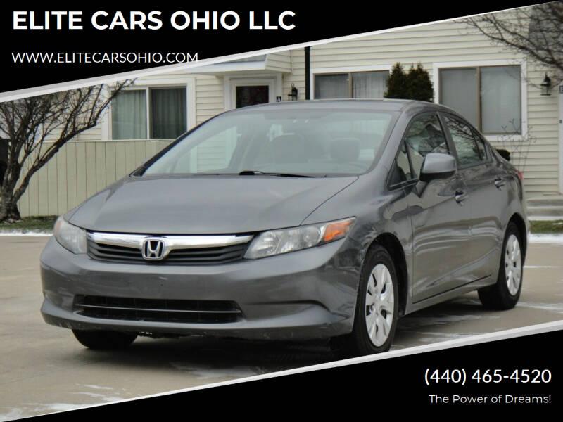 2012 Honda Civic for sale at ELITE CARS OHIO LLC in Solon OH