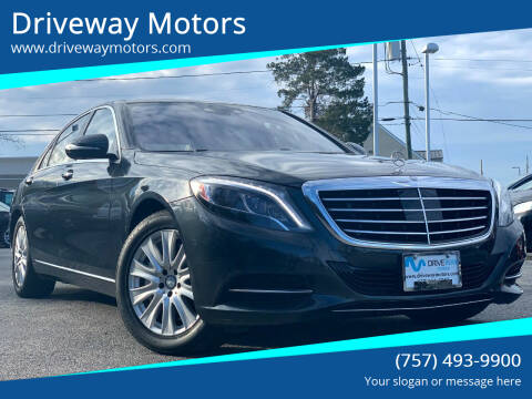 2015 Mercedes-Benz S-Class for sale at Driveway Motors in Virginia Beach VA