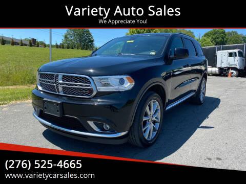 2019 Dodge Durango for sale at Variety Auto Sales in Abingdon VA