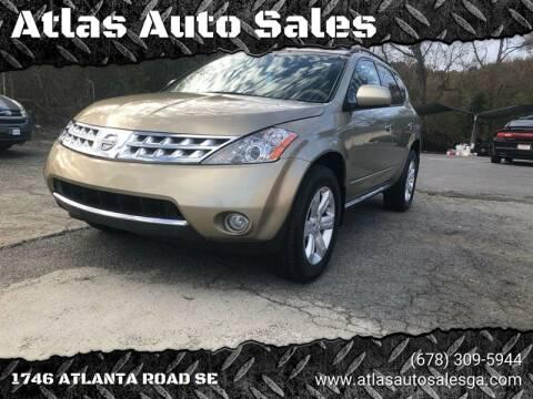 2007 Nissan Murano for sale at Atlas Auto Sales in Smyrna GA