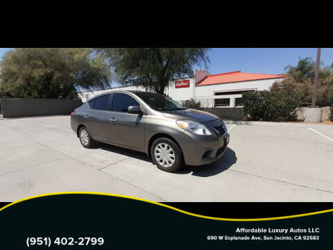 2012 Nissan Versa for sale at Affordable Luxury Autos LLC in San Jacinto CA