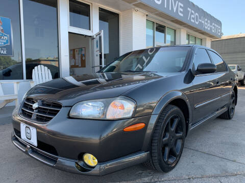 2001 Nissan Maxima for sale at Shift Automotive in Denver CO