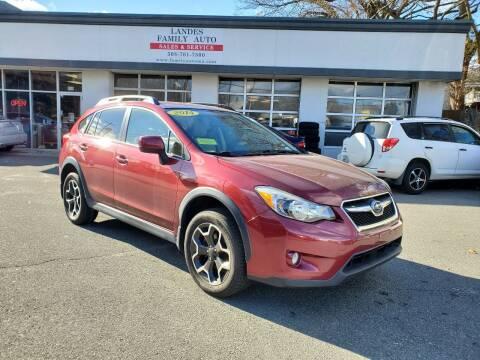 2014 Subaru XV Crosstrek for sale at Landes Family Auto Sales in Attleboro MA