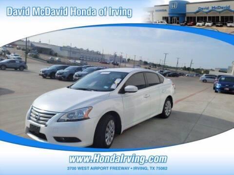 2013 Nissan Sentra for sale at DAVID McDAVID HONDA OF IRVING in Irving TX