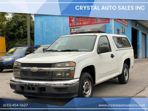 2007 Chevrolet Colorado for sale at Crystal Auto Sales Inc in Nashville TN